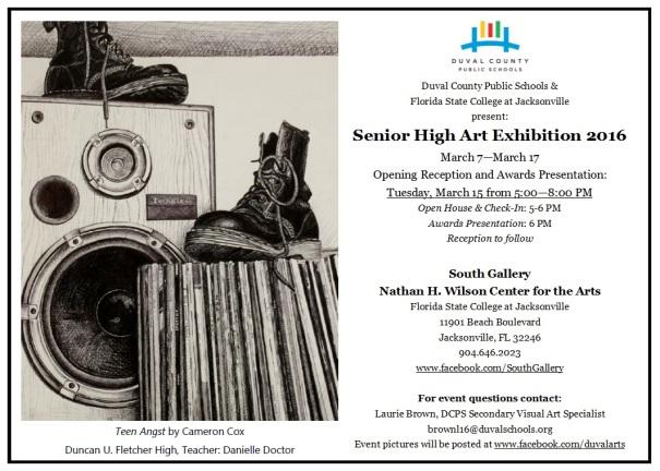 2016 Senior High Exhibition Invite